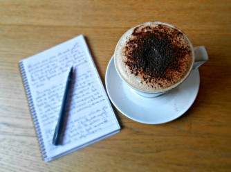 writers-desk-with-cappuccino